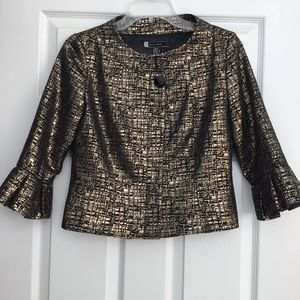 JS Boutique Metallic Gold & Black Crop Jacket 4
